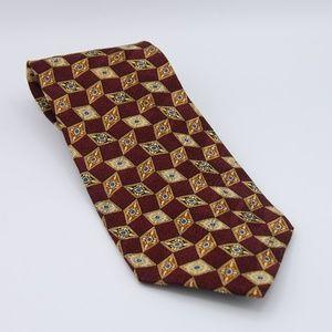Valentino Silk Tie Diamond Print 57 inch